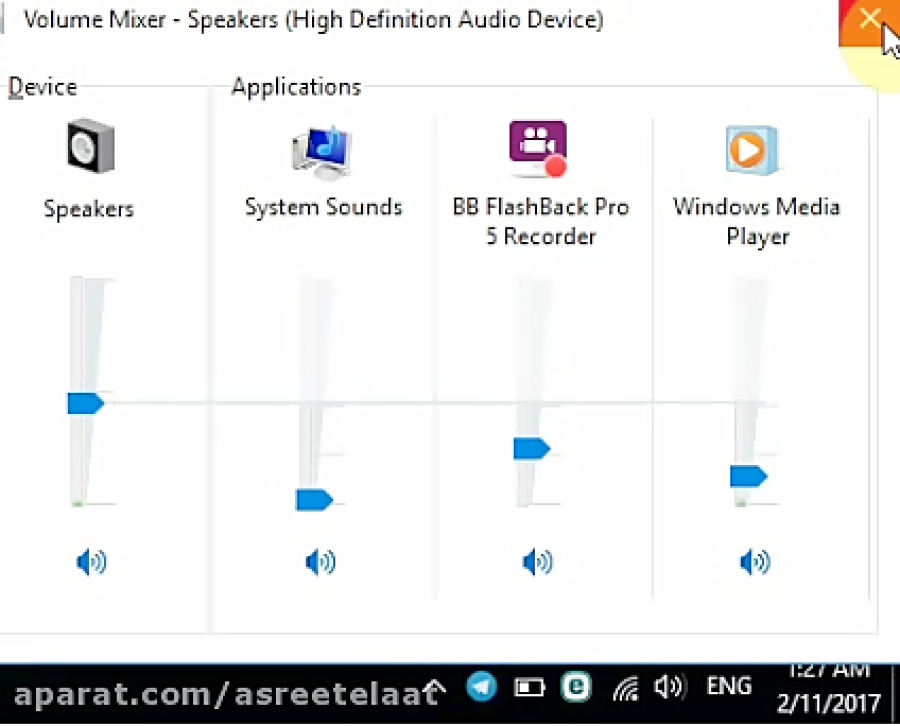 قطع کردن صدای برخی از نرم افزار ها در ویندوز 10