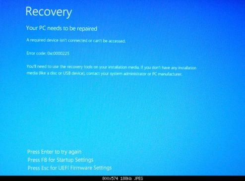 0xc0000225: Fix for Windows 7, 8, 8.1