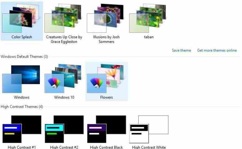 مشکل تنظیم بکگراند در ویندوز 10 desktop background