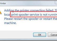 رفع مشکل print spooler service is not running